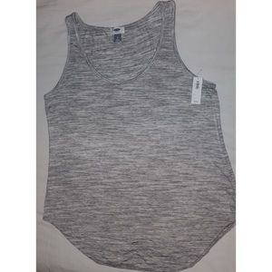 Old Navy Feathered Grey Muscle Tee
